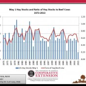 May 1 Hay Stocks Historically Small